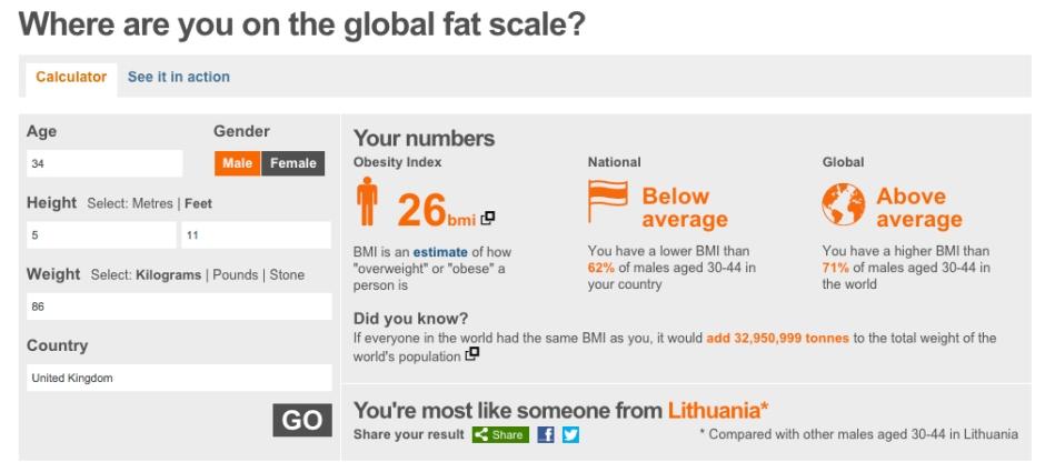 BBC BMI screenshot